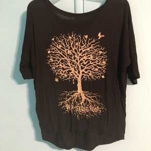 Deep seeded roots blouse